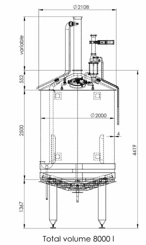 BH BWOP 6000 mash tank 01 dim - BREWORX OPPIDUM 6000 : Wort brew machine - the brewhouse - bop, bwm-bop