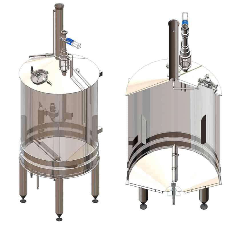 BH BWOP 6000 mash tank 01 - BREWORX OPPIDUM 6000 : Wort brew machine - the brewhouse - bop, bwm-bop