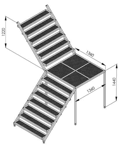 BH BWOP 6000 service stairs 01 - BREWORX OPPIDUM 6000 : Wort brew machine - the brewhouse - bop, bwm-bop