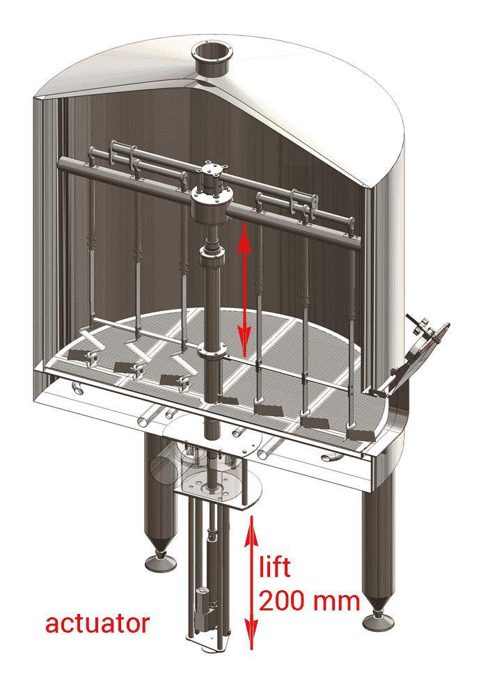 BH OPT ELS electric lift stirrer 1000 - BH-OPT-ELS30 Electric lift of the knife-stirrer in the filtering tank 3000L - oels, els