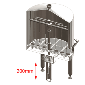 BH-OPT-ELS20 Electric lift of the knife-stirrer in the filtering tank 2000L
