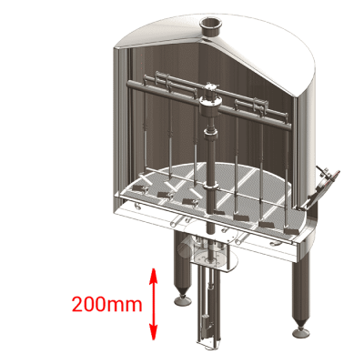 OELS - Electric lift of knife-stirrer