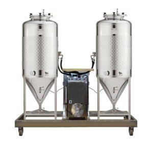 FUIC-SHP1C-2x1000CCT Compact fermentation unit 2×1000/1200 liters 2.5bar