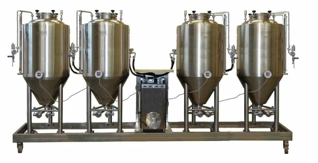 FUIC - Compact fermentation units with professional CCT/CCF fermentors 3.0bar