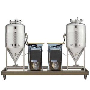 FUIC-SLP2C-2x600CCT Compact fermentation unit 2×600/625 liters 1.2 bar