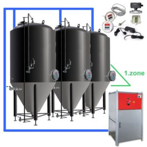 CFSOT1-10xCCT2000C Complete set for the fermentation of beer with 10x CCT-2000C, on-tank control