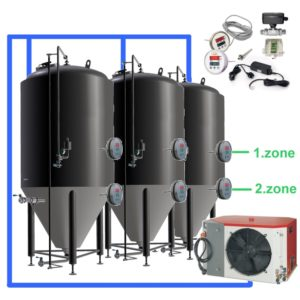 CFSOT2-2xCCT500C Complete set for the fermentation of beer with 2x CCT-500C, on-tank control