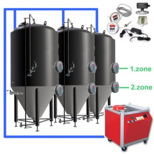 CFSOT2-2xCCT2000C Complete set for the fermentation of beer with 2x CCT-2000C, on-tank control
