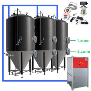 CFSOT2-8xCCT3000C Complete set for the fermentation of beer with 8x CCT-3000C, on-tank control