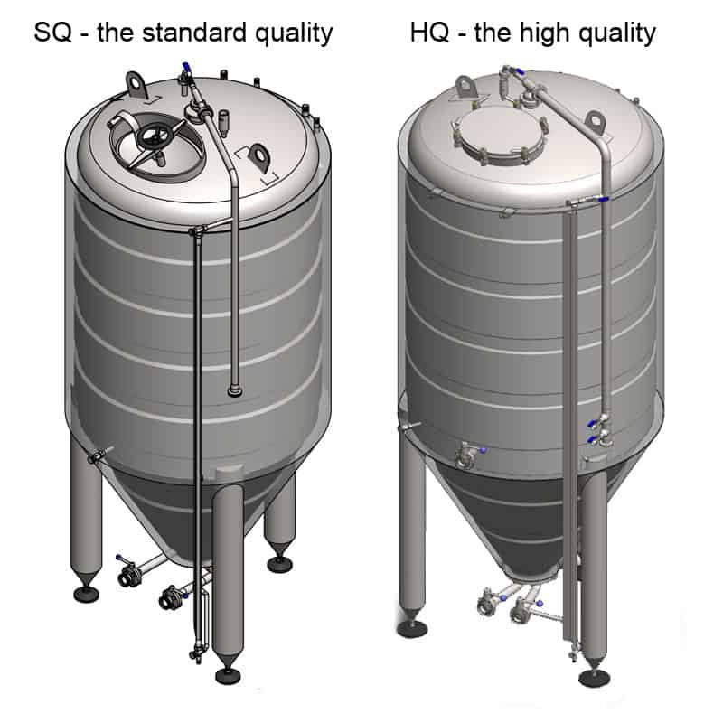 CCT 2000 SQ HQ 800x800 - CCT-9000C Cylindrically-conical fermentation tank CLASSIC, insulated, 9000/10493L - ccti, cmti, classic