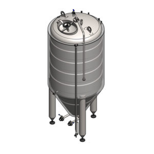 CCT-6000C Cylindrically-conical fermentation tank CLASSIC, insulated, 6000/7101L