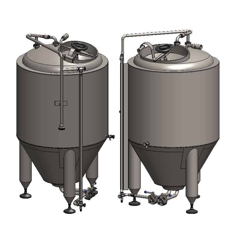 CCT 200C 800x800 01 - CCT-200C Cylindrically-conical fermentation tank CLASSIC, insulated, 200/240L - ccti, cmti, classic