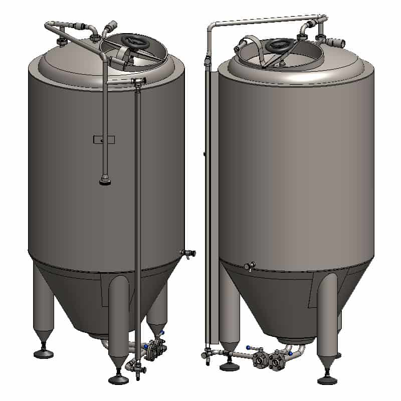 CCT 400C SQ 800x800 4 - CCT-400C Cylindrically-conical fermentation tank CLASSIC, insulated, 400/487L - ccti, cmti, classic