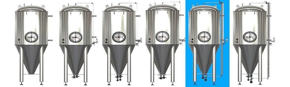 CCT M modular cylindrical conical tanks allsets B1 1000x300 - CCTM-1500B1  Modular cylindrically-conical fermentation tank 1500/1865 L - b1, b1sets