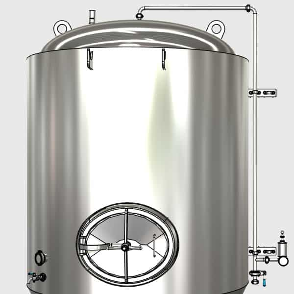 CCTM A2 009 600x600 - CCTM-3000A3  Modular cylindrically-conical fermentation tank 3000/3633 L - a3, a3sets