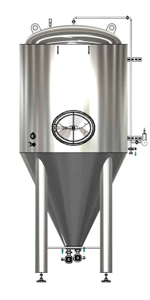 CCTM A3 001 1000x500 - CCTM-1000A3  Modular cylindrically-conical fermentation tank 1000/1276 L - a3, a3sets