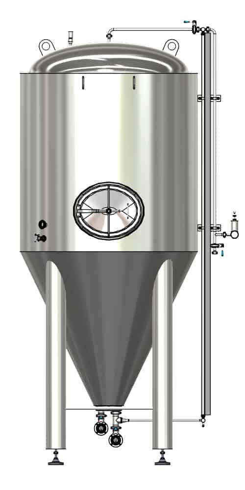 CCTM B1 001 1000x500 - CCTM-1500B1  Modular cylindrically-conical fermentation tank 1500/1865 L - b1, b1sets