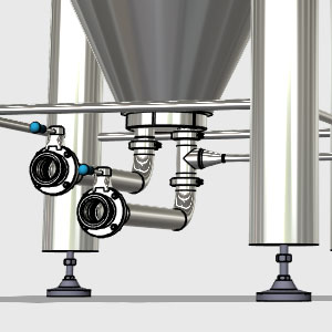 CCTM B1 008 300x300 - CCTM-1500B1  Modular cylindrically-conical fermentation tank 1500/1865 L - b1, b1sets