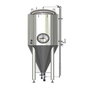 CCTM-500B2  Modular cylindrically-conical fermentation tank 500/600 L