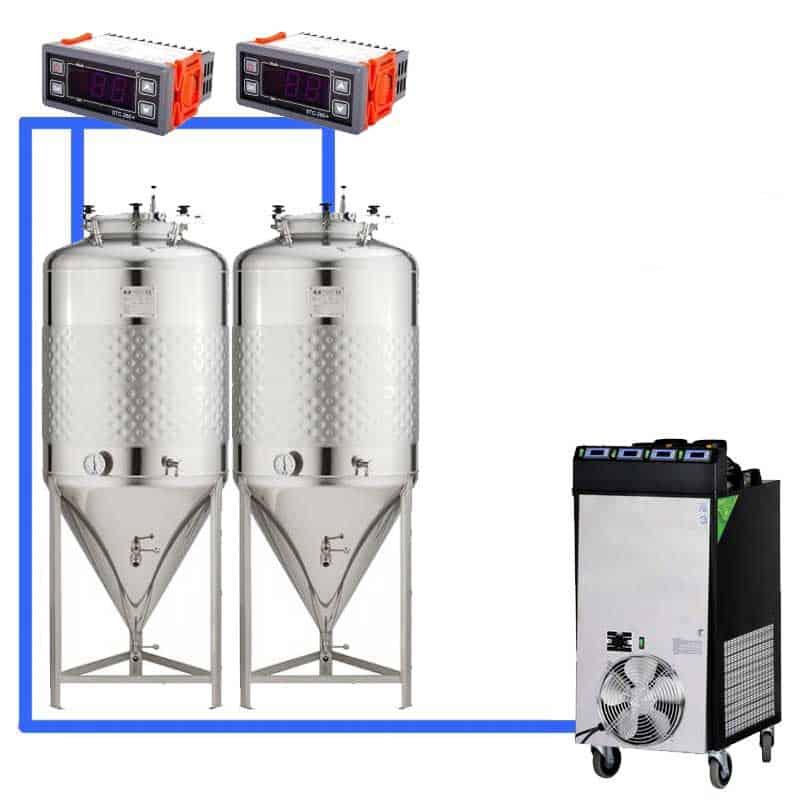 CFS 1ZS Complete beer fermentation sets simplified CLC 4 2T 01 - CFSCT1-1xCCT1500C Complete fermentation set with 1x CCT-1500C - 1c1t