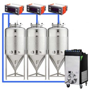 CFSCT1-3xCCT100SHP : Complete fermentation set with 3xCCT-SHP 120 liters