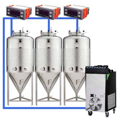 CFS1C-CCT-100 : Complete fermentation sets with conical fermentors 100 L