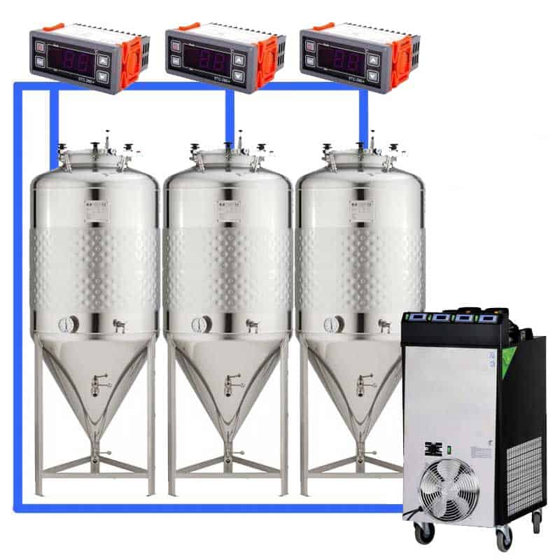 CFS 1ZS Complete beer fermentation sets simplified CLC 4 3T 01 - Microbrewery BREWMASTER BSB-501-CF840W - mcb-751-1000