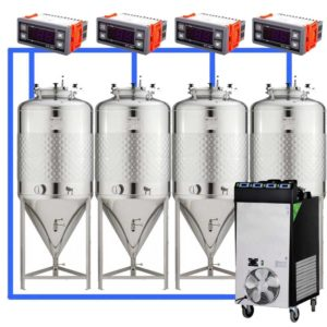 CFSCT1-4xCCT200SLP : Complete fermentation set with 4xCCT-SLP 240 liters