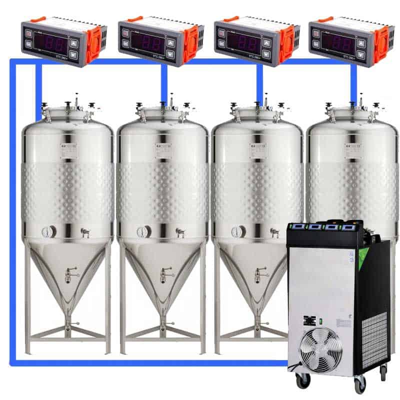 CFS 1ZS Complete beer fermentation sets simplified CLC 4 4T 01 - Microbrewery BREWMASTER BSB-502-CF2625W - mcb-2501-3000