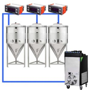 CFSCT1-3xCCT100SNP : Complete fermentation set with 3xCCT-SNP 120 liters