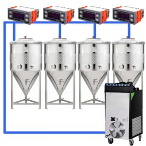 CFSCT1-4xCCT100SNP : Complete fermentation set with 4xCCT-SNP 120 liters