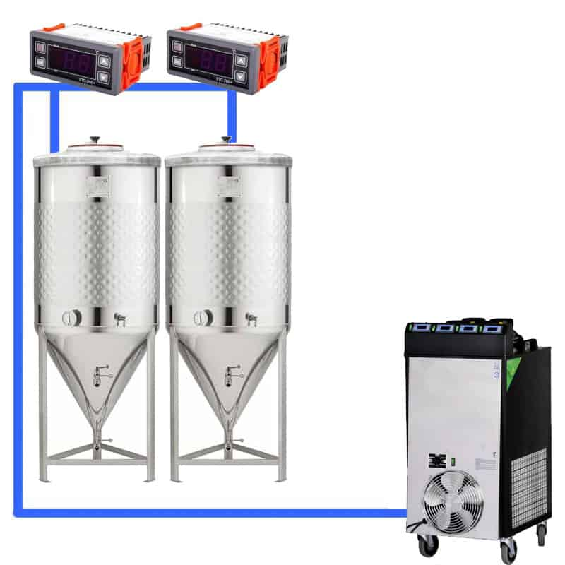 CFS 1ZS Complete beer fermentation sets simplified CLC SNP 500 2T - Microbrewery BREWMASTER BSB-201-F75SNP - bsb-201-0200l, bsb-200-cct-200, acb-0-100, mcb-0-100