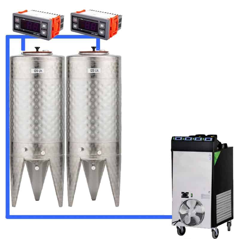 CFS 1ZS Complete beer fermentation sets simplified CLC SNP100H 2T - Microbrewery BREWMASTER BSB-52-F40SNP - bsb-052-0100l, mcb-0-100