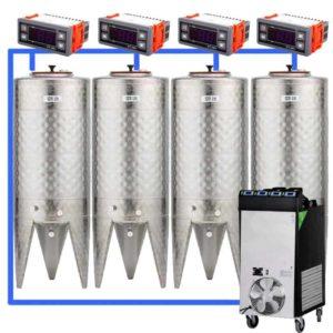 CFSCT1-4xCFT100SNP : Complete fermentation set with 4xCFT-SNP 120 liters