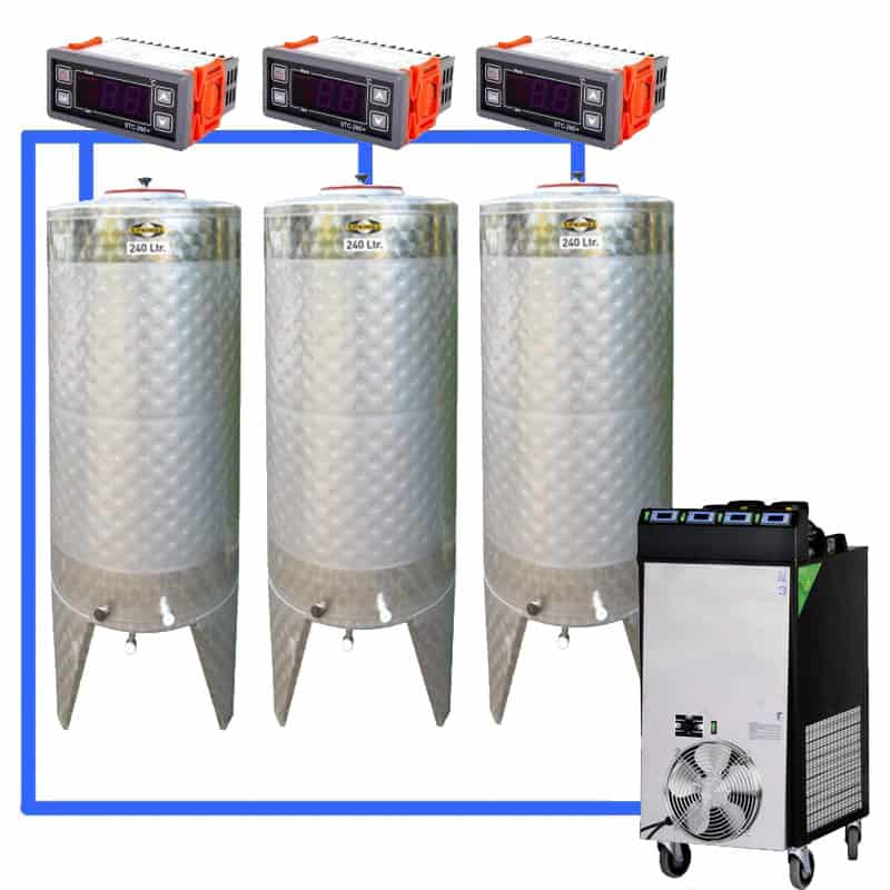 CFS 1ZS Complete beer fermentation sets simplified CLC SNP200H 3T - Microbrewery BREWMASTER BSB-201-CF525W - mcb-501-750, bsb-201-0200l, bsb-200-cct-200