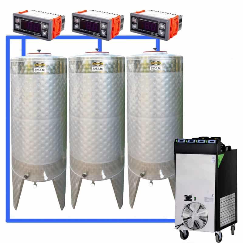 CFS 1ZS Complete beer fermentation sets simplified CLC SNP500H 3T - CFSCT1-3xCFT500SNP : Complete fermentation set with 3xCFT-SNP 625 liters - cfs1c-fmt-500, ct1cct-snp-cfs