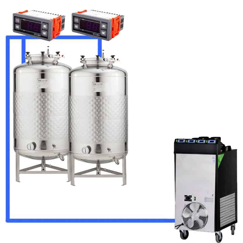 CFS1C CFT Complete beer fermentation sets simplified CLC 4 2T - Microbrewery BREWMASTER BSB-502-CF375W - mcb-301-400