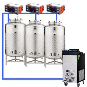 CFSCT1-3xFMT100SHP : Complete fermentation set with 3xFMT-SHP 120 liters