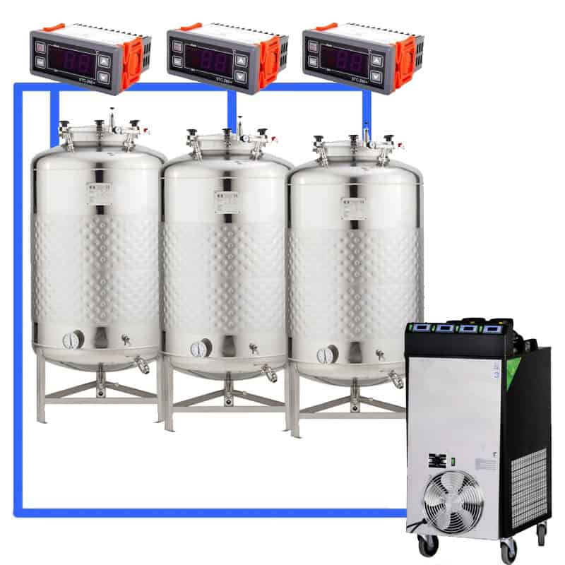 CFS1C CFT Complete beer fermentation sets simplified CLC 4 3T - Microbrewery BREWMASTER BSB-201-CF225W - bsb-201-0200l, bsb-200-cct-200, mcb-201-300
