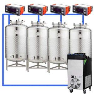 CFSCT1-4xFMT200SLP : Complete fermentation set with 4xFMT-SLP 240 liters