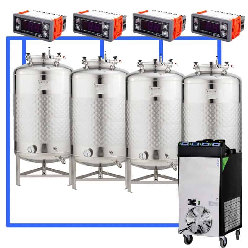 CFS1C CFT Complete beer fermentation sets simplified CLC 4 4T - Microbrewery BREWMASTER BSB-502-CF2625W - mcb-2501-3000