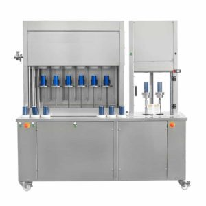 CFSA-MB662 Compact semiautomatic can filling machine