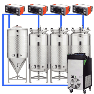 CFSCT1-1xCCT200SNP-3xFMT200SLP : Complete fermentation set with 1xCCT-SNP 240 liters and 3xFMT-SLP 240 liters