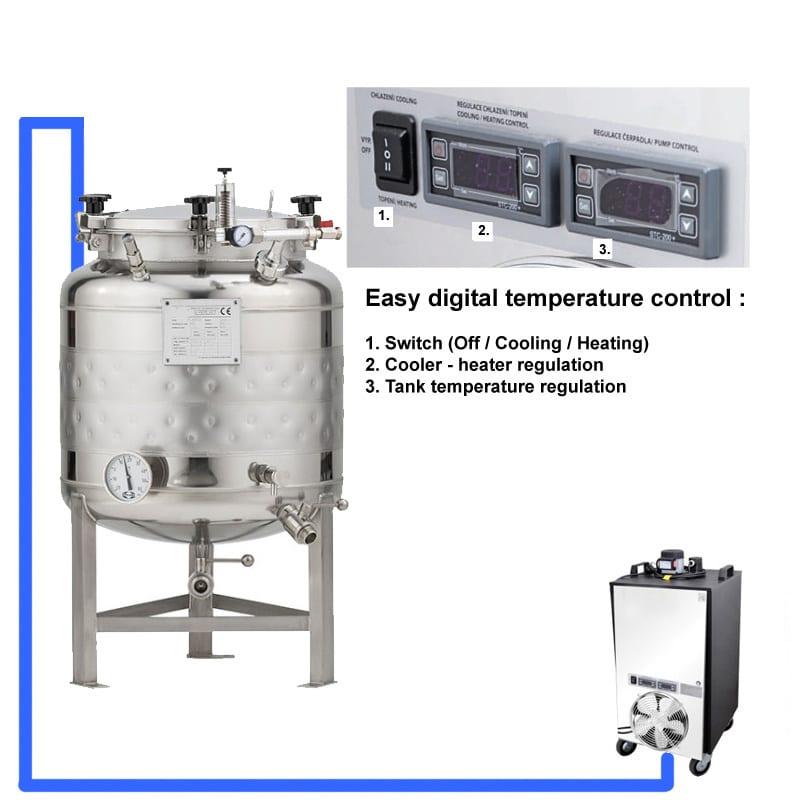 CFSCT1 1xCFT SLP 100H EN Complete beer fermentation maturation set onetank - BM-20 : BREWMASTER Compact wort brew machine - 23L brewhouse - bwm-bbm, bbm, hbw