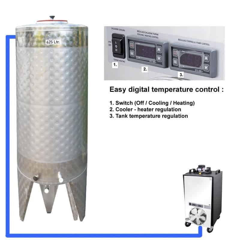 CFSCT1 1xCFT SNP 500H EN Complete beer fermentation set onetank - Microbrewery BREWMASTER BSB-501-CFT95 - acb-0-100, mcb-0-100