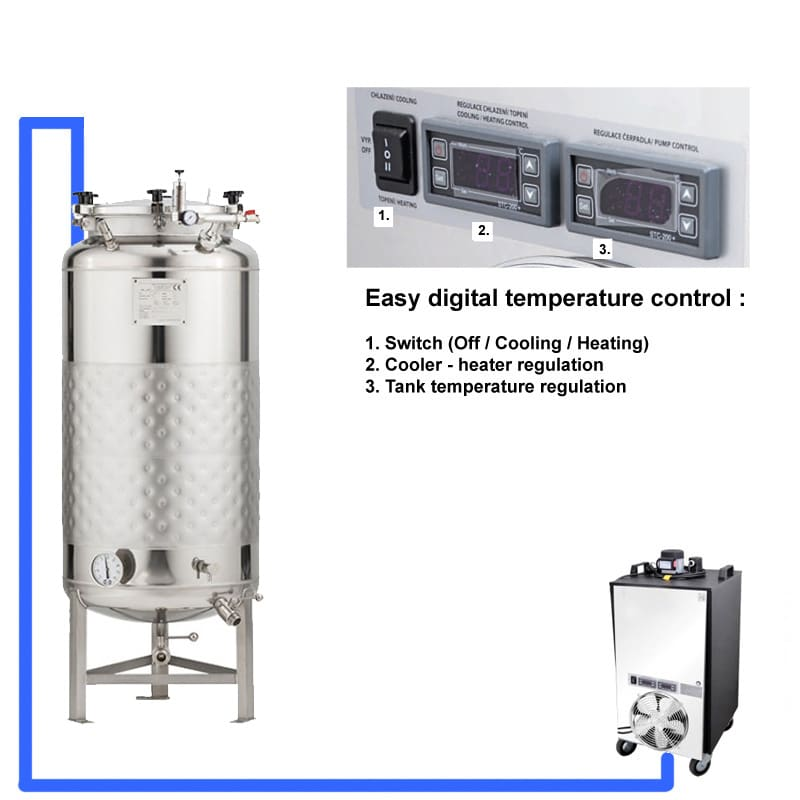 CFSCT1 1xFMT SLP 200H EN Complete beer fermentation maturation set onetank - BM-200 : BREWMASTER Compact wort brew machine - the 230L brewhouse - bwm-bbm, bbm, hbw