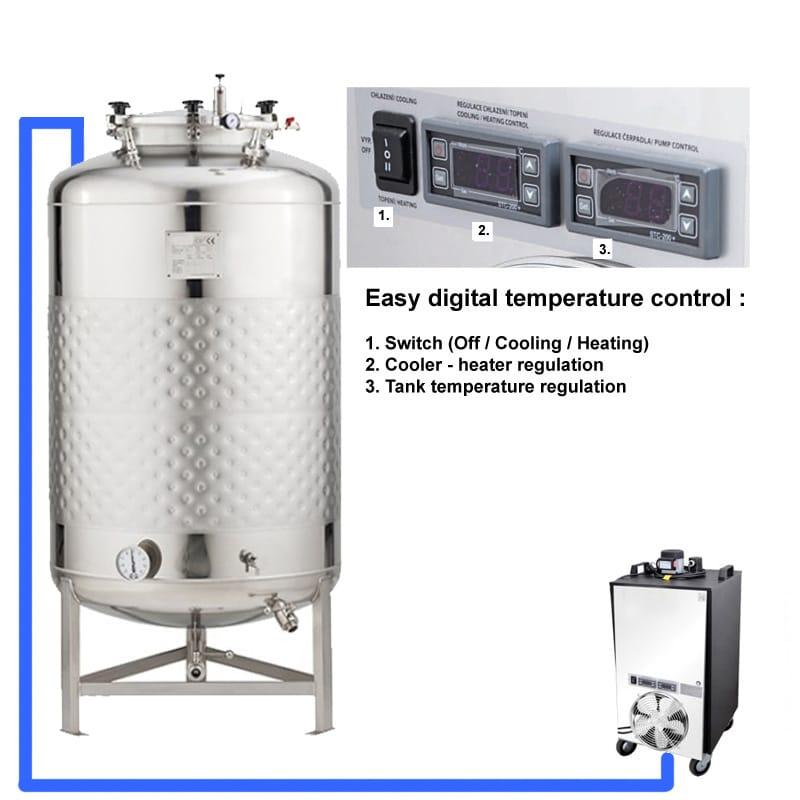 CFSCT1 1xFMT SLP 500H EN Complete beer fermentation maturation set onetank - BM-500 : BREWMASTER Compact wort brew machine - the 550L brewhouse - bwm-bbm, bbm, hbw
