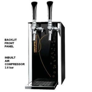 DBCS-BPE25-2 Black Pearl Exclusive : Compact beer cooler / with compressor, 1/8 HP
