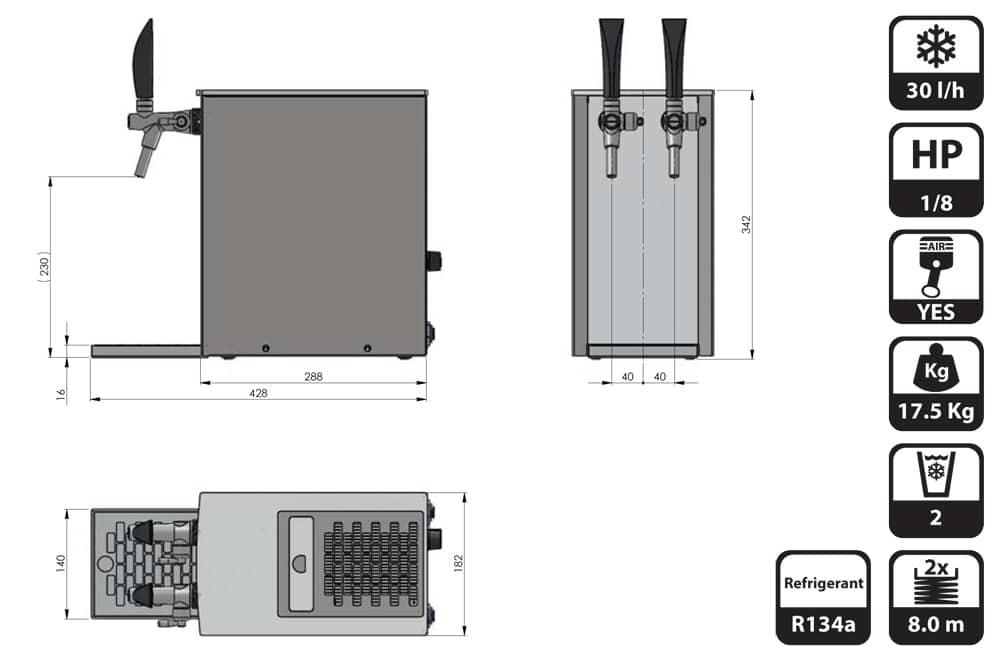 DBCS-BPE25-2-Dimensions