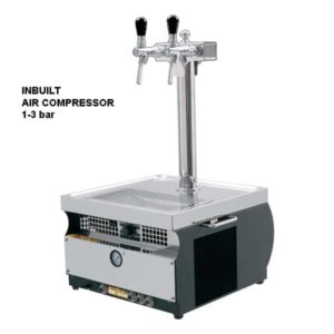 DBCS-PT50AC Profi Tower : Compact beer cooler / with compressor, 1/5 HP